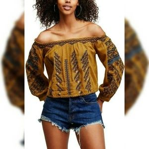 9842 Free people All I Need Crop Blouse Top M